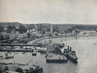 'Rothesay - The Landing-Stage and Esplanade', 1895-Unknown-Framed Photographic Print