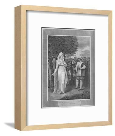 'Henry VIII in rage with the Chancellor Who Came To Seize Catherine Parr', 1838-Unknown-Framed Giclee Print