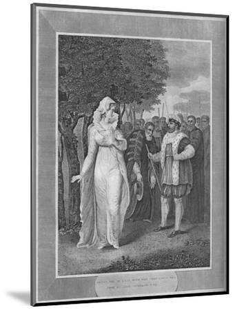 'Henry VIII in rage with the Chancellor Who Came To Seize Catherine Parr', 1838-Unknown-Mounted Giclee Print