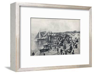 'Great Yarmouth - A Typical Scene on the Beach', 1895-Unknown-Framed Photographic Print