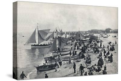 'Great Yarmouth - A Typical Scene on the Beach', 1895-Unknown-Stretched Canvas Print