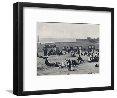 'New Brighton - Showing the Port and the Lighthouse', 1895-Unknown-Framed Photographic Print