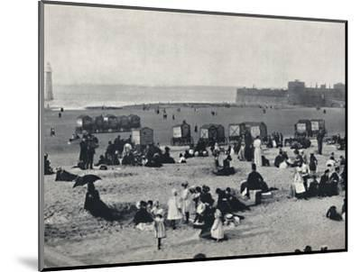 'New Brighton - Showing the Port and the Lighthouse', 1895-Unknown-Mounted Photographic Print