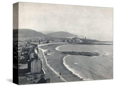 'Aberystwith - View of the Bay, Showing the Castle and the University College', 1895-Unknown-Stretched Canvas Print