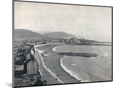 'Aberystwith - View of the Bay, Showing the Castle and the University College', 1895-Unknown-Mounted Photographic Print