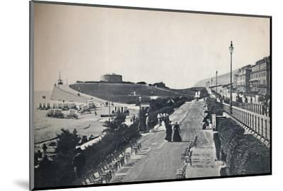 'Eastbourne - Part of the Promenade, Showing Wish Tower', 1895-Unknown-Mounted Photographic Print
