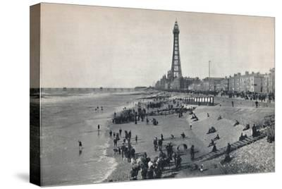 'Blackpool - View of the Front, Showing the Tower', 1895-Unknown-Stretched Canvas Print