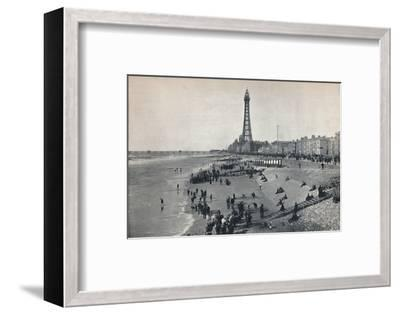 'Blackpool - View of the Front, Showing the Tower', 1895-Unknown-Framed Photographic Print
