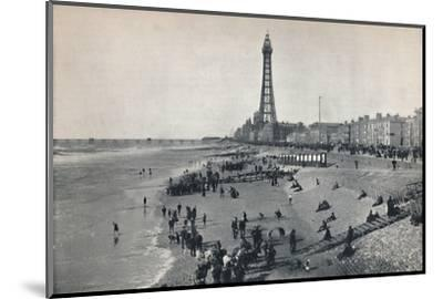 'Blackpool - View of the Front, Showing the Tower', 1895-Unknown-Mounted Photographic Print