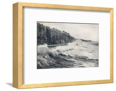 'Blackpool - A Rough Day', 1895-Unknown-Framed Photographic Print