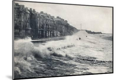 'Blackpool - A Rough Day', 1895-Unknown-Mounted Photographic Print