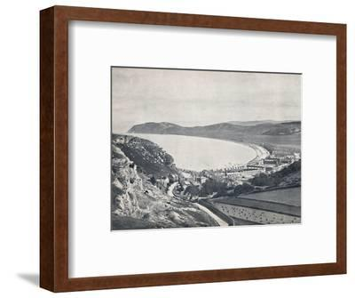 'Llandudno - Looking Down from the Mountain', 1895-Unknown-Framed Photographic Print