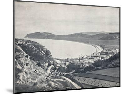 'Llandudno - Looking Down from the Mountain', 1895-Unknown-Mounted Photographic Print