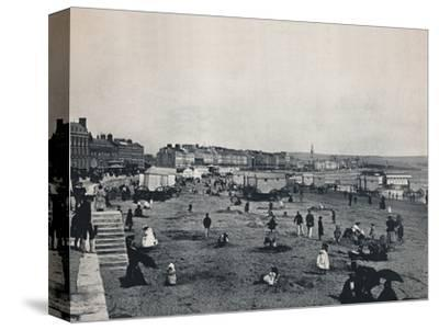 'Weymouth - General View of the Town and the Beach', 1895-Unknown-Stretched Canvas Print