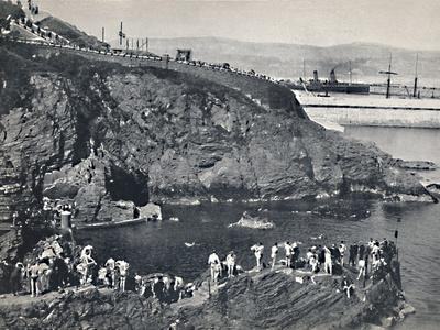 'Douglas - The Bathing-Place at Port Skillion', 1895-Unknown-Framed Photographic Print