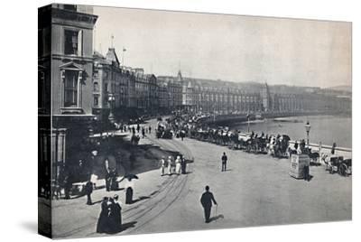 'Douglas - General View of the Promenade', 1895-Unknown-Stretched Canvas Print