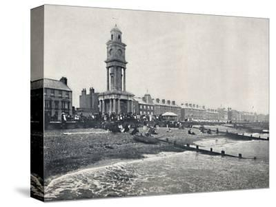 'Herne Bay - The Front, Showing Clock Tower', 1895-Unknown-Stretched Canvas Print