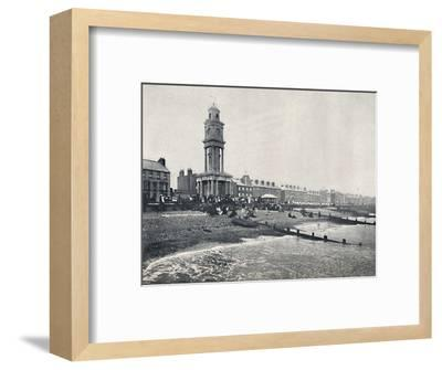 'Herne Bay - The Front, Showing Clock Tower', 1895-Unknown-Framed Photographic Print
