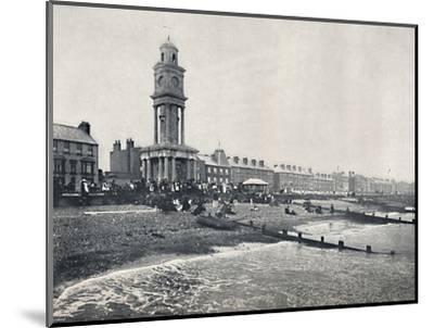 'Herne Bay - The Front, Showing Clock Tower', 1895-Unknown-Mounted Photographic Print