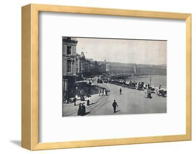 'Douglas - General View of the Promenade', 1895-Unknown-Framed Photographic Print