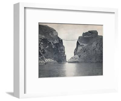 'Carrick-A-Rede - The Rope Bridge Across the Chasm', 1895-Unknown-Framed Photographic Print