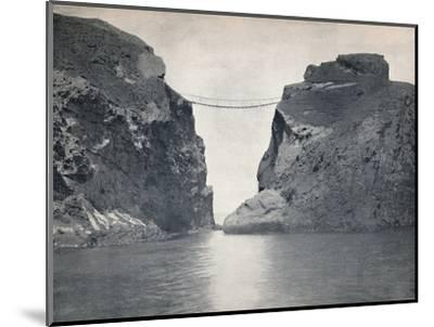 'Carrick-A-Rede - The Rope Bridge Across the Chasm', 1895-Unknown-Mounted Photographic Print