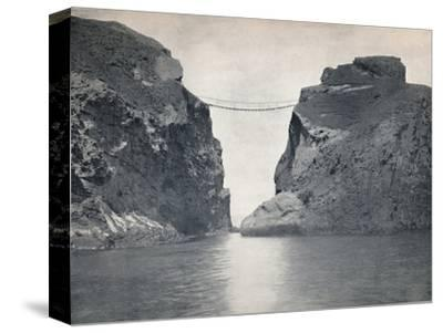 'Carrick-A-Rede - The Rope Bridge Across the Chasm', 1895-Unknown-Stretched Canvas Print