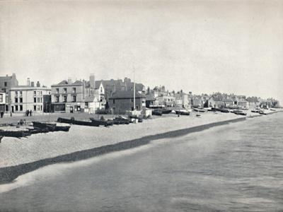 'Deal - Looking Along the Beach', 1895-Unknown-Framed Photographic Print