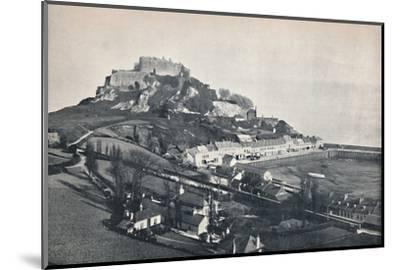 'Jersey - Gorey, and Mont Orgueil Castle', 1895-Unknown-Mounted Photographic Print