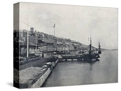 'Queenstown - Looking Along the Shore', 1895-Unknown-Stretched Canvas Print