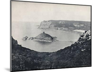 'Jersey - Portelet Bay and Janvrin Island', 1895-Unknown-Mounted Photographic Print