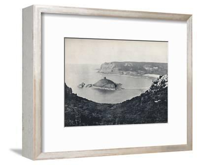 'Jersey - Portelet Bay and Janvrin Island', 1895-Unknown-Framed Photographic Print