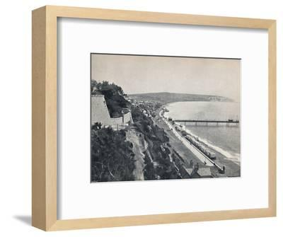 'Sandown - From the Cliffs', 1895-Unknown-Framed Photographic Print