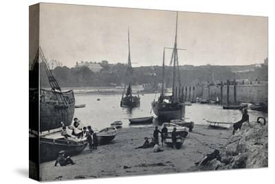 'Tenby - In the Harbour', 1895-Unknown-Stretched Canvas Print