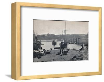 'Tenby - In the Harbour', 1895-Unknown-Framed Photographic Print