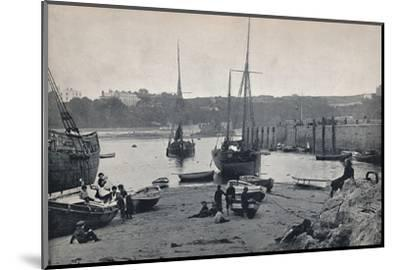 'Tenby - In the Harbour', 1895-Unknown-Mounted Photographic Print