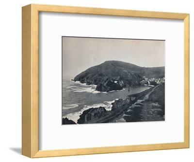 'Polperro - The Inlet and the Village', 1895-Unknown-Framed Photographic Print
