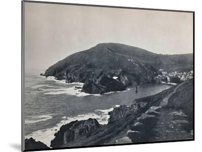 'Polperro - The Inlet and the Village', 1895-Unknown-Mounted Photographic Print