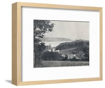 'Llanstephan - The Village and the Castle-Crowned Hill', 1895-Unknown-Framed Photographic Print