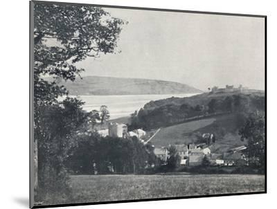 'Llanstephan - The Village and the Castle-Crowned Hill', 1895-Unknown-Mounted Photographic Print