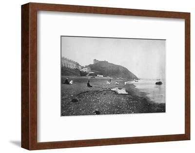 'Criccieth - View of the Beach and the Castle', 1895-Unknown-Framed Photographic Print
