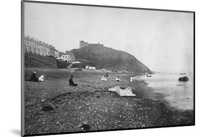 'Criccieth - View of the Beach and the Castle', 1895-Unknown-Mounted Photographic Print