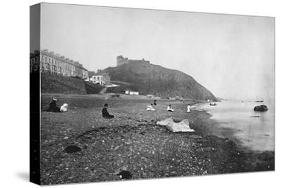 'Criccieth - View of the Beach and the Castle', 1895-Unknown-Stretched Canvas Print