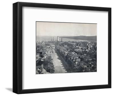 'St. Andrews - View of the Town from College Church Tower', 1895-Unknown-Framed Photographic Print