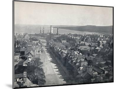 'St. Andrews - View of the Town from College Church Tower', 1895-Unknown-Mounted Photographic Print