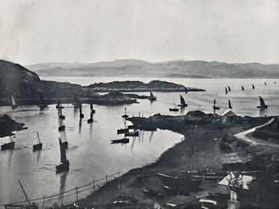 'Tarbert - Fishing Boats Going Out', 1895-Unknown-Framed Photographic Print