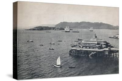 'Plymouth - The Pier', 1895-Unknown-Stretched Canvas Print