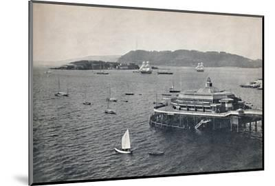 'Plymouth - The Pier', 1895-Unknown-Mounted Photographic Print