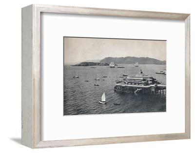 'Plymouth - The Pier', 1895-Unknown-Framed Photographic Print