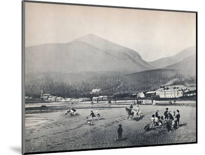'Newcastle, Co. Down. - The Strand, with Slieve Donard', 1895-Unknown-Mounted Photographic Print
